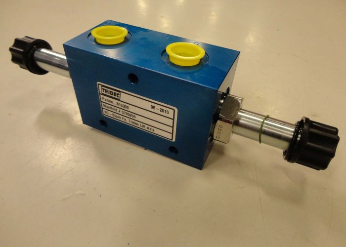 Manifold block used for hydraulic steering