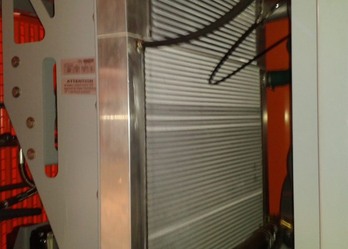 Close up of a cooling in an Automated Guided Vehicle